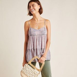 Anthropologie Roxanne Babydoll Cami Top Size 6